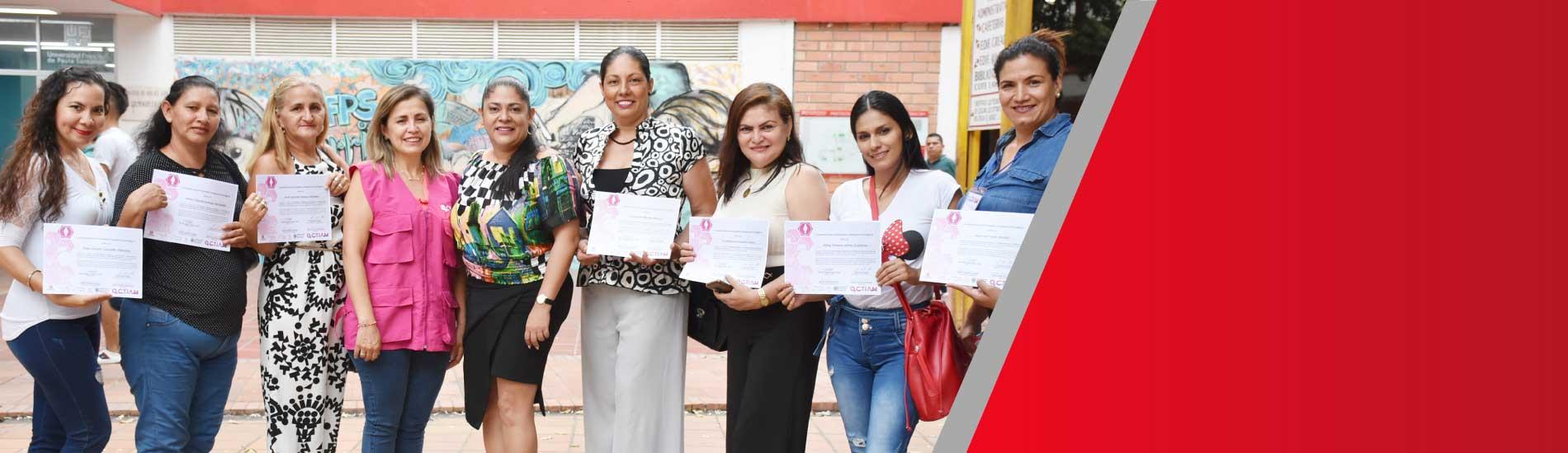 Mujeres del proyecto CTIAM UFPS fueron certificadas en estrategias de emprendimiento