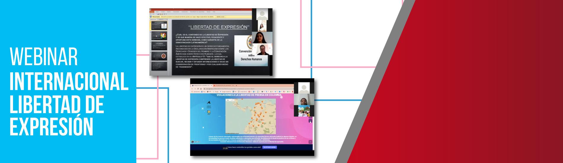 Grupo y semillero de investigación UFPS lideraron Webinar internacional sobre Libertad de Expresión