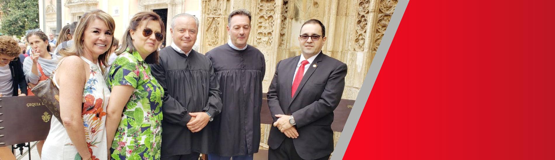 Docentes del programa de Derecho realizaron estancia académica internacional en España